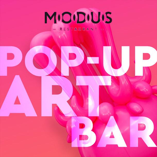 Pop-up art bar в ресторане Modus